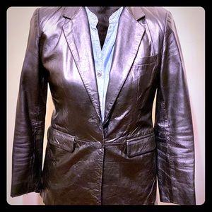 NWOT INC 100% Leather Blazer